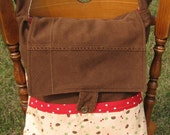 Hedgehog Messenger Bag with 7 pockets