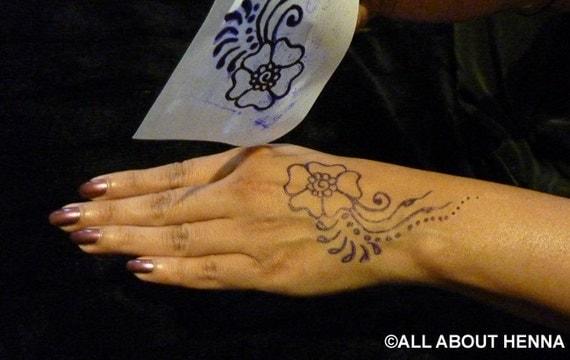 diy henna muster schablonen set 3 anf nger. Black Bedroom Furniture Sets. Home Design Ideas