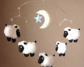Counting Sheep Musical Fleece Baby Mobile - Custom Colors Available