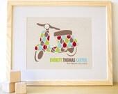8X10 Custom Vespa Print - Kids Wall Art