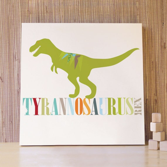 Items similar to dinosaur nursery art decor for baby for Dinosaur pictures for kids room
