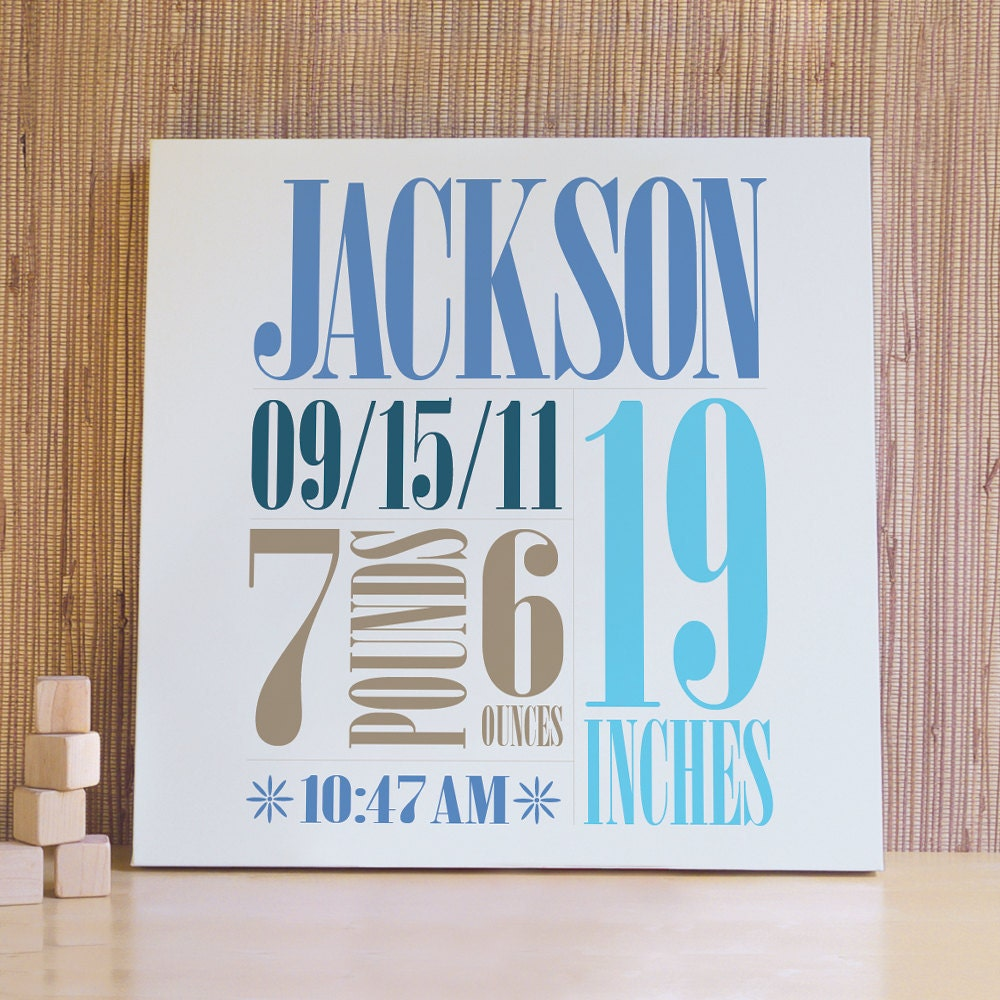 Personalized Wall Art Decor: Personalized Baby Art Kids Wall Art Wall Decor For Baby