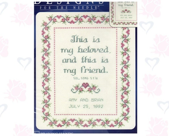 This Is My Beloved, This is My Friend -- Cross Stitch Kit NIP