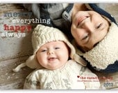 Happy Everything One Picture Card Design (4x6 or 5x7)