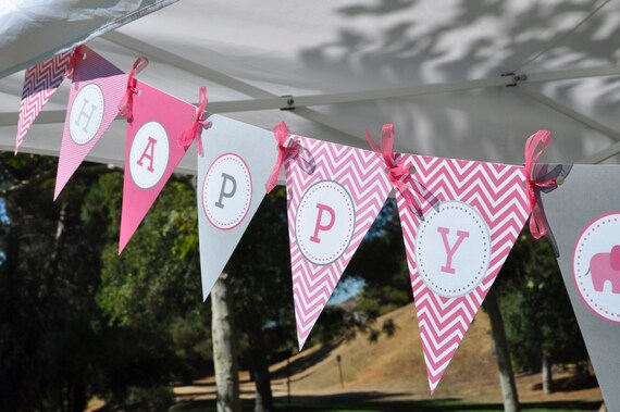 PINK ELEPHANT PARADE Party Printables Set  - Cupcake wrappers, hats, cupcake toppers and more.  Now Available with Yellow too