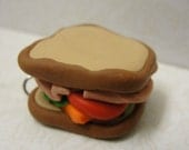 A Whole Sandwich Just For You - handcrafted clay pendat