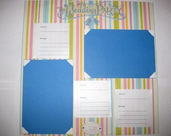 Custom Made Wedding Guest Book with Photo Spaces