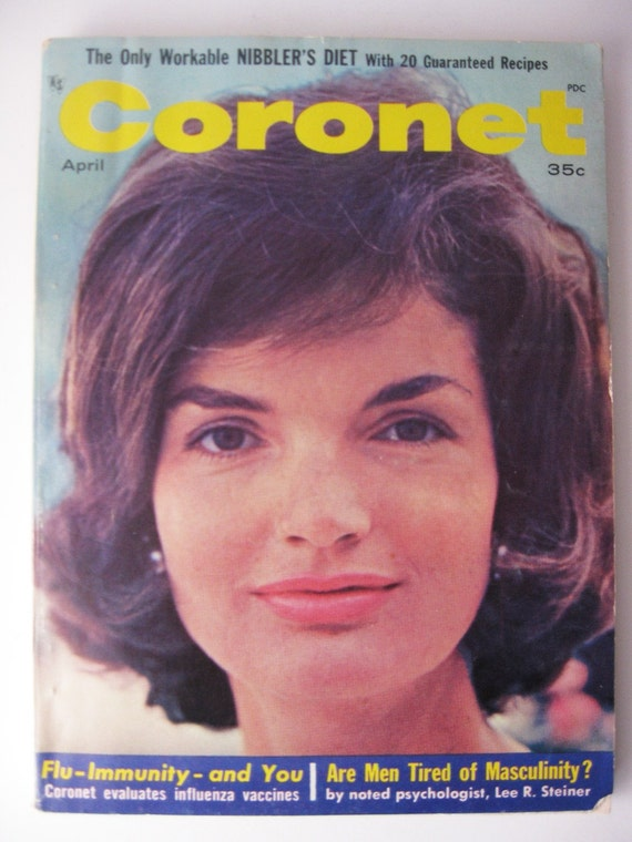 1964 Coronet Magazine with Jackie O on Cover