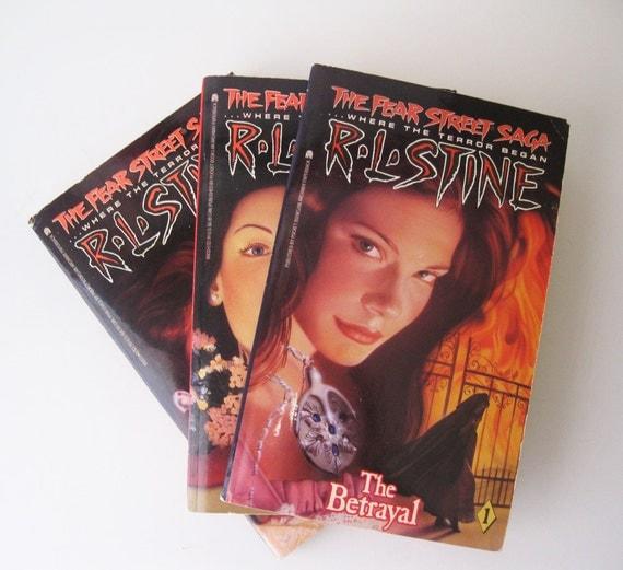 Vintage 1990s R.L.Stine, Fear Street Saga Set of Three