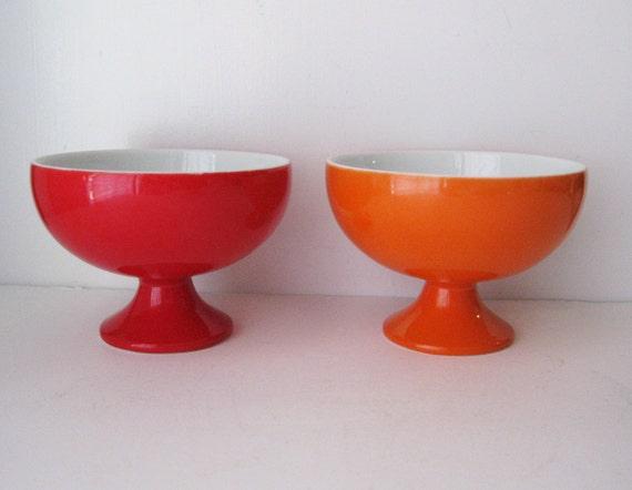 Mod Sherbet Cups, Mismatched Pair
