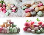 Paris Photography - Macaron Note Cards, French Patisserie, Roses,  Food Photography, French stationery
