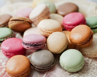 Paris Photo - Macarons - Food Photography, French patisserie, Kitchen Wall Decor, Large Wall Art