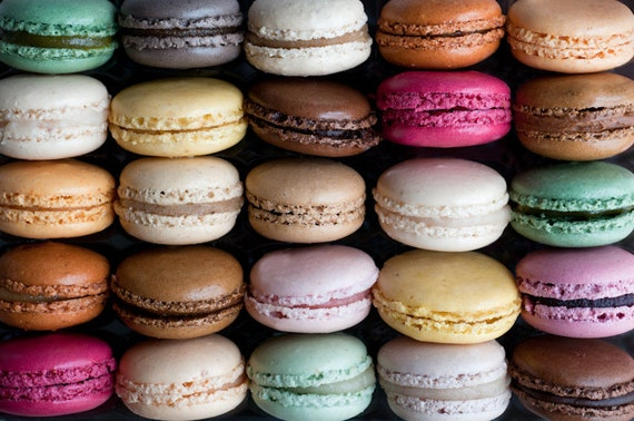 Paris Macarons Photography - French Patisserie, Colorful Food Photography, Large Wall Decor