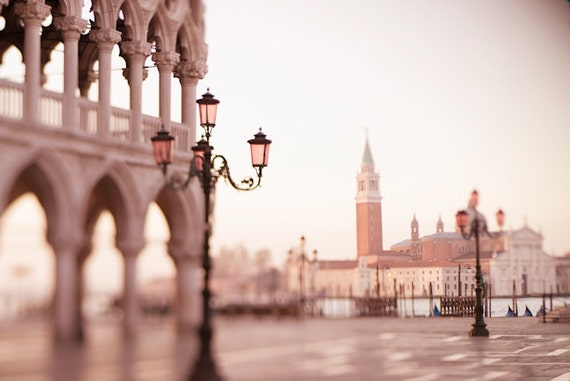 Venice Photography - Early Morning in Piazza San Marco, Venice, Italy Photograph, Wall Decor