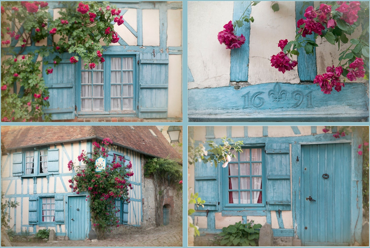 French country photos four fine art photographs cottage for Cottage home decorations