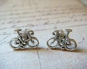 Bicycles - Sterling Silver Post Earrings