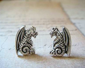 Dragons - Sterling Silver Post Earrings