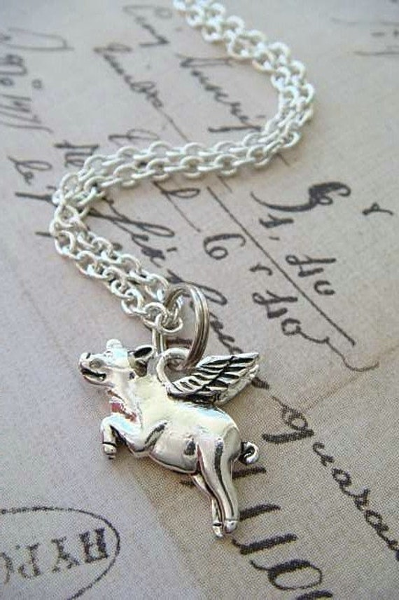 FLYING PIG - Silver Plated Charm