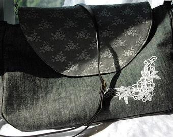 Vintage Style Lace Flower shoulder bag
