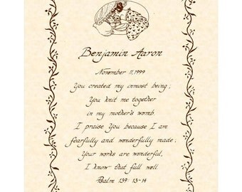 PERSONALIZE THIS For A Child --- 8 x 10 Hand Written Calligraphy Art Print