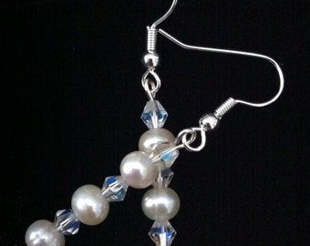 Titanic Heaven genuine pearl and Swarovski earrings, alternative set