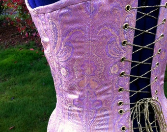 Silk-rayon brocade Titanic corset, FIRST PAYMENT of two for a total of 550