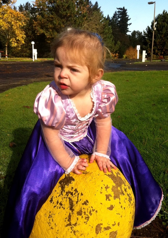 Tangled Rapunzel Dress, adjustable sizing for years of wear