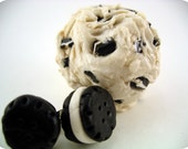 Jumbo Cookies and Cream Scoop Ring and Matching Cookie Earrings