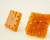 Cheese-Uts Cheese Cracker Earrings