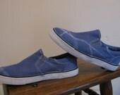 Big Navy Lines size 1 slip on shoes OOAK