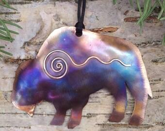 Handcrafted Copper Buffalo Ornament