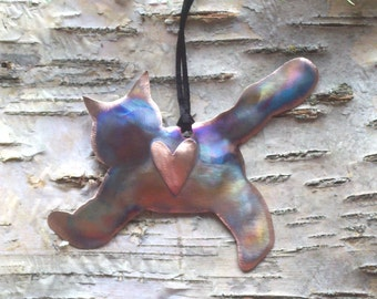 Copper Kitty Ornament