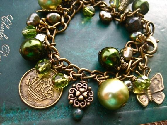 Green Forest Charm Bracelet