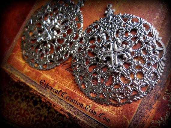 Tudor Cross Earrings