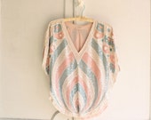 on hold...pastel sequin top 20s style deco tunic & scarf