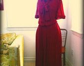 SALE Vintage Diane Von Furstenberg Accordion Dress M/L