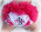Diva Rockstar Hot Pink and Black Personalized Diaper Cover