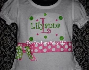 BOUTIQUE RUFFLE PERSONALIZED shirt
