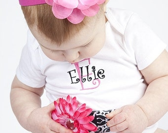 Boutique Sequin Flower Hot Pink Preemie Infant Toddler Newborn  Headband