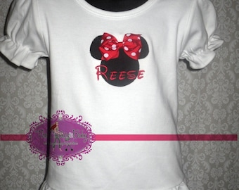 Minnie Mouse Boutique Ruffle Personalized Shirt Infant Toddler