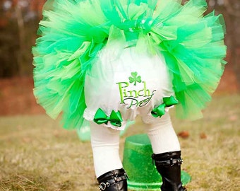 Pink Proof Shamrock Irish St. Patrick's Day Bloomers Diaper Cover