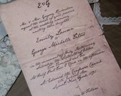 Mr. Darcy's Letter Wedding Invitations - Sample