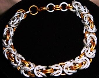 Aluminum Anodized and Etched Aluminum Bracelet