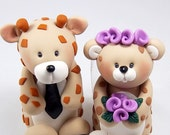 Wedding Cake Topper, Giraffe, Leopard Figurine, Customized