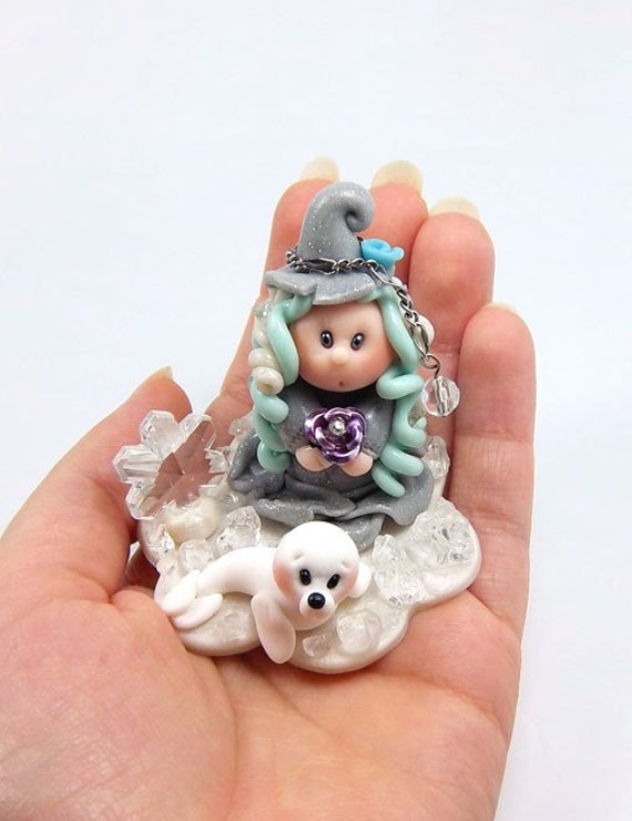 Polymer Clay Miniature Figurine - Myriel Witch Of The North (ON SALE)