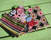 Set of 3 Reusable Snack Bags - Flowers, stripes, and dots