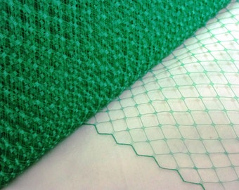 Kelly Green Veiling Millinery Veil for Hats and Hat Making and Fascinators
