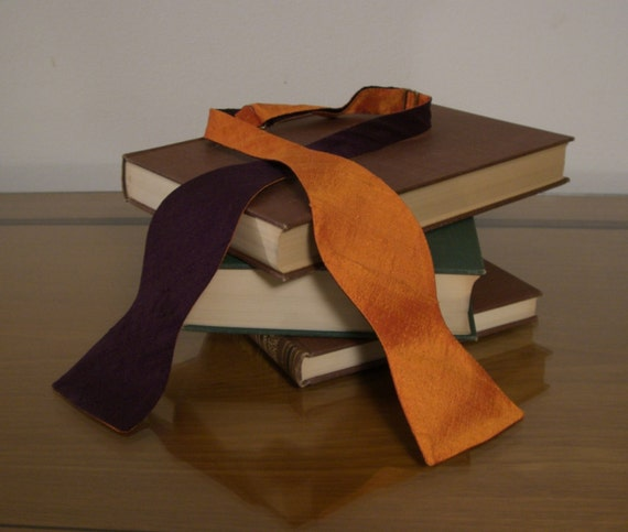Tangerine Purple Bow Tie