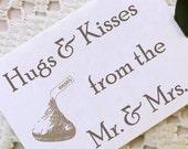 Hugs and Kisses Wedding Favor Tags - Set of 50