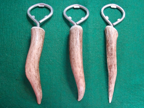 Deer antler bottle opener